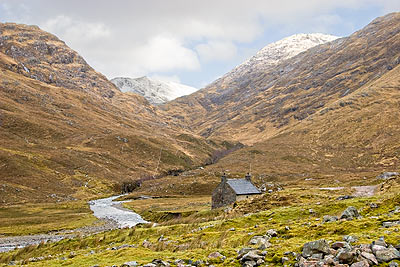 The head of Glen Lichd where the path gets a little more difficult