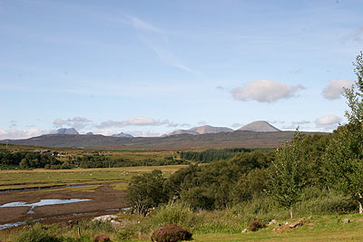 Spectacular views over to the Cuillin Hills