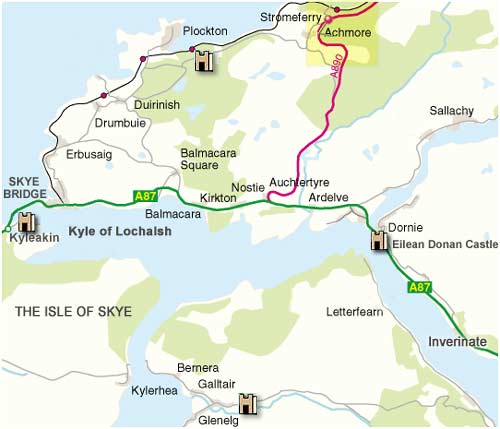 Map of Glenelg, Skye and Lochalsh