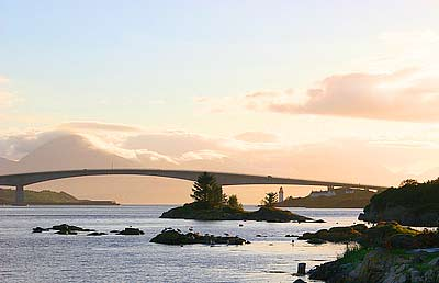 Skye Bridge at dusk