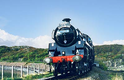 Steam Train just outside Kyle of Lochalsh